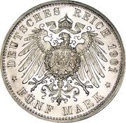 5 Mark - Wilhelm II (Royaume de Prusse) – revers