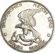 3 Mark - Wilhelm II (Déclaration de guerre de la Prusse contre Napoléon) -  revers
