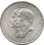 3 Mark - Wilhelm II (Université de Breslau) – avers