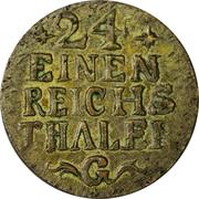 1/24 thaler - Friedrich II -  revers
