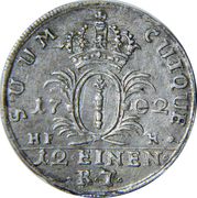 1/12 thaler - Friedrich I – revers