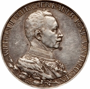 3 Mark - Wilhelm II (règne) – avers