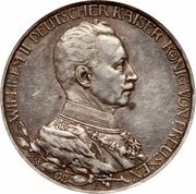 3 Mark - Wilhelm II (règne) – avers
