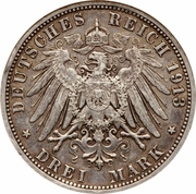3 Mark - Wilhelm II (règne) – revers