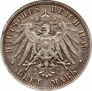 3 Mark - Wilhelm II (règne) – revers
