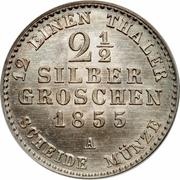 2½ silbergroschen - Friedrich Wilhelm IV – revers