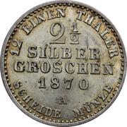 2½ silbergroschen - Wilhelm I -  revers