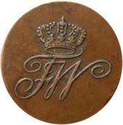 1 schilling - Friedrich Wilhelm III – avers
