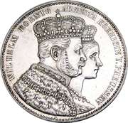 1 thaler - Wilhelm I (couronnement) – avers