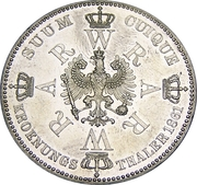 1 thaler - Wilhelm I (couronnement) – revers