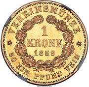 1 Krone - Friedrich Wilhelm IV – revers
