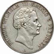 2 thaler / 3½ gulden - Friedrich Wilhelm III – avers