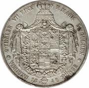 2 thaler / 3½ gulden - Friedrich Wilhelm III – revers