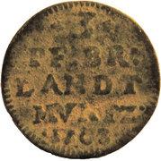 3 pfennig - Friedrich I – revers