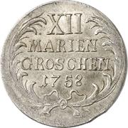 12 mariengroschen - Friedrich II – revers