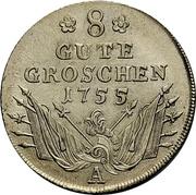 8 gute groschen - Friedrich II – revers