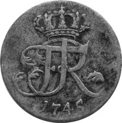1/12 thaler - Friedrich II – avers