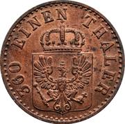 1 pfenning - Friedrich Wilhelm IV – avers