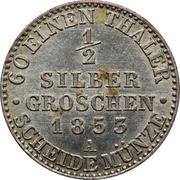 ½ silber groschen - Friedrich Wilhelm IV – revers