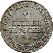 ½ silbergroschen - Wilhelm I – revers