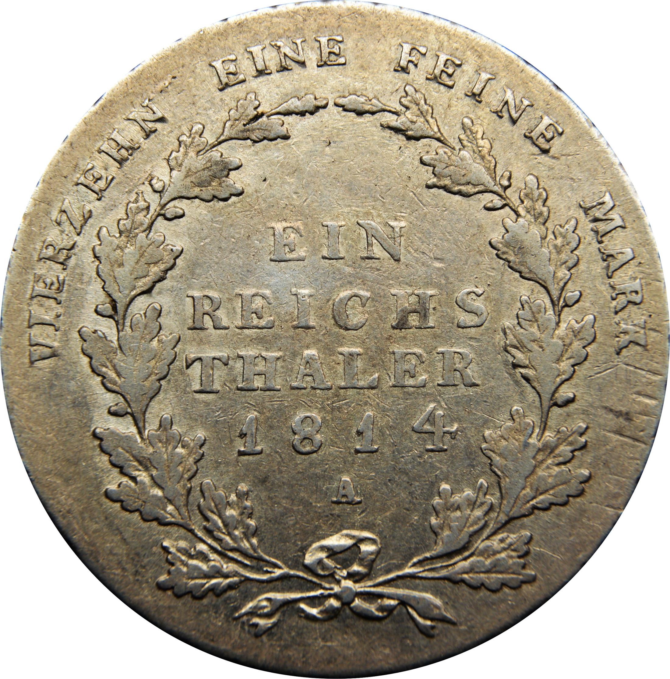 1 Reichsthaler Friedrich Wilhelm Iii Royaume De Prusse Numista