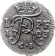 1 pfennig - Friedrich I – avers