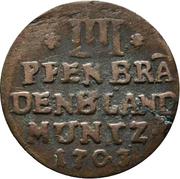 4 pfennig - Friedrich I – revers