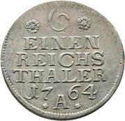 ⅙ reichsthaler - Friedrich II (portrait ancien) – revers