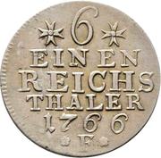 ⅙ reichsthaler - Friedrich II (portrait berlinois) – revers