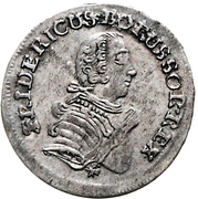 3 gröscher - Friedrich II – avers