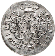 3 gröscher - Friedrich II – revers
