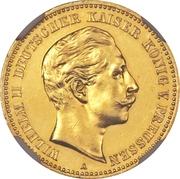 10 Mark - Wilhelm II – avers