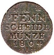 1 pfennig Friedrich Wilhelm II – revers