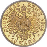 10 Mark - Wilhelm II – revers