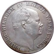 1 vereinsthaler - Friedrich Wilhelm IV – avers