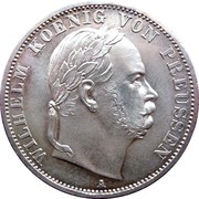 1 vereinsthaler - Wilhelm I – avers