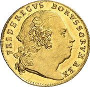 1 ducat Friedrich II. – avers