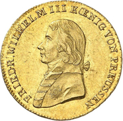 2 friedrichs d'or Friedrich Wilhelm III -  avers