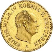 ½ Friedrich d'or - Friedrich Wilhelm IV – avers