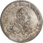 1 piastre Friedrich II – avers