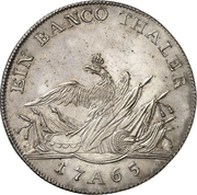 1 banco thaler Friedrich II – revers