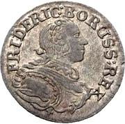 1 kreuzer Friedrich II – avers