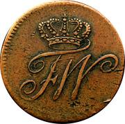 ½ kreuzer Friedrich Wilhelm II – avers