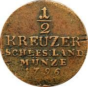 ½ kreuzer Friedrich Wilhelm II – revers