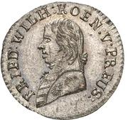 1 kreuzer Friedrich Wilhelm III – avers