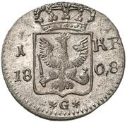 1 kreuzer Friedrich Wilhelm III – revers