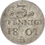 3 pfennige Friedrich Wilhelm III – revers