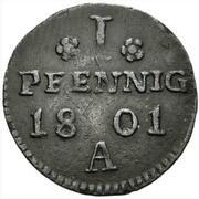1 pfennig - Friedrich Wilhelm III – revers