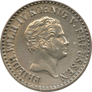 1 silbergroschen - Friedrich Wilhelm IV -  avers