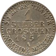 1 silbergroschen - Friedrich Wilhelm IV – revers